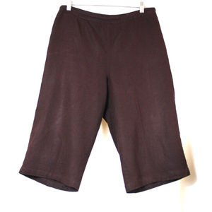 CWC Linen Blend Capris Dark Brown Size PM